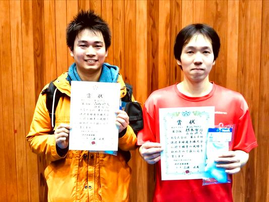 男子複3位:根本選手・古西選手(オーシャンクラブC)