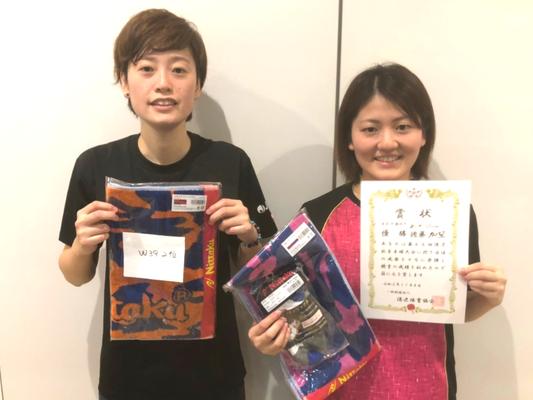 女子39歳以下 準優勝:岡本選手、優勝:佐藤選手