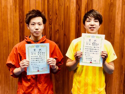 男子複優勝:松岡選手・浅井選手(アクティブ)