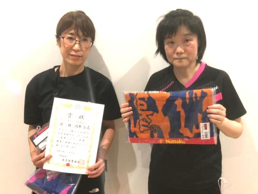 女子50歳以上 優勝:岡本選手、準優勝:福島選手