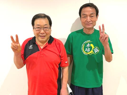 男子60歳以上 準優勝:野口選手、優勝:黒田選手