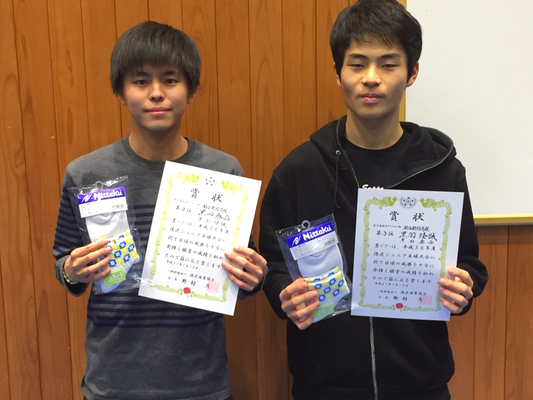 高校生男子(複)3位入賞:黒田選手・黒羽選手(都立新宿高校)