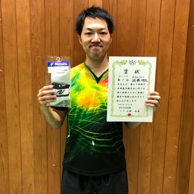 男子単優勝:佐藤選手