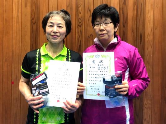 女子複3位:鈴木選手・田口選手