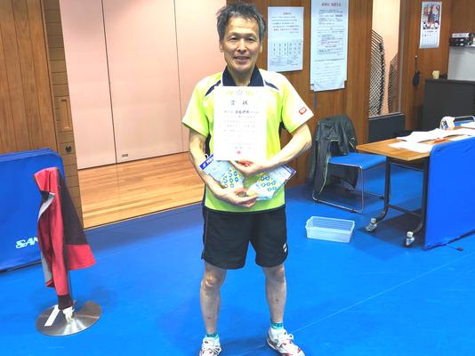 男子60歳以上・優勝:板倉選手