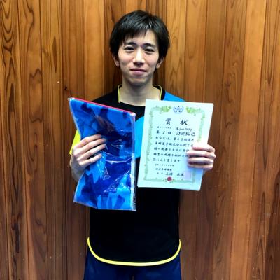 男子単準優勝:田淵選手
