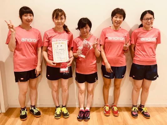 女子3部優勝:ひのきちょうTTC