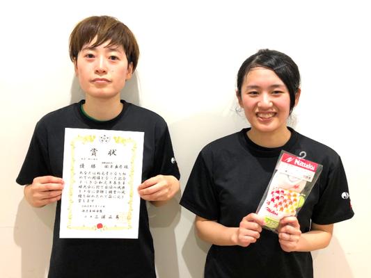 女子一般の部A 優勝:岡本選手 準優勝:西谷選手