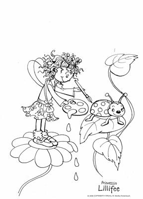 Prinzessin Lillifee malt