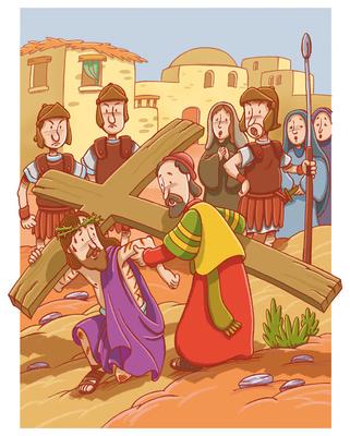 Jesús con la cruz a cuestas