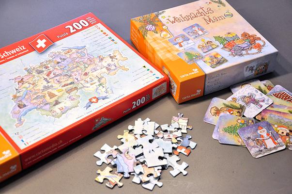 Carta Media – Illustration und Kreation von Puzzle und Memo-Spiel