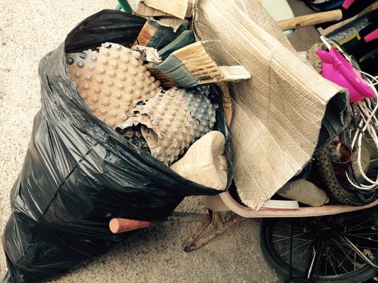 der gesammelte Müll aus dem Barranco