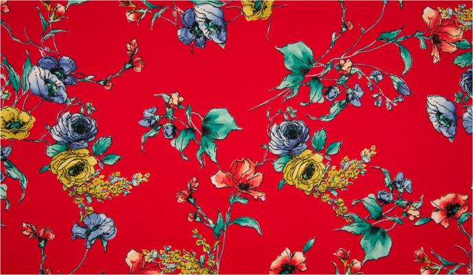 Tolles Crepp Material für wunderschöne Sommerkleider