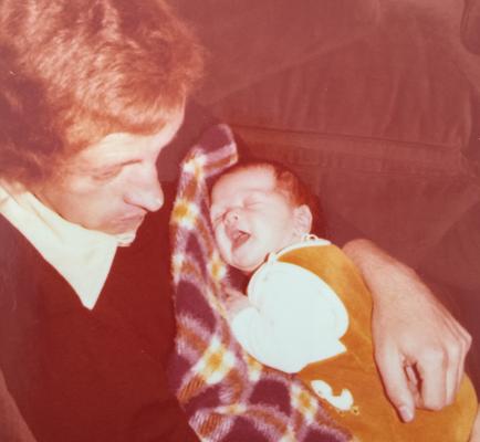 Rainer Kuhlmey mit Sohn Michael Kuhlmey, 1978