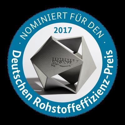 Nominiert für den Deutschen Rohstoffeffizienz-Preis 2017