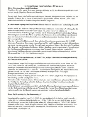 Informationsblatt der Gemeinde Grammow Juni 2018