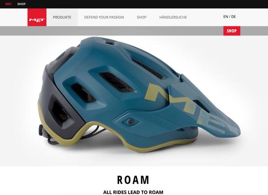 Legion Blue Sand / Matt ist zum Beispiel eine der neuen stylishen Farben, die MET 2019 für den Roam anbietet. / Foto: Met