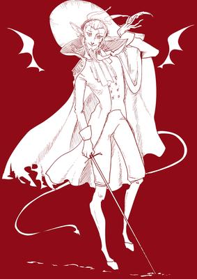 メフィストフェレス(白赤)