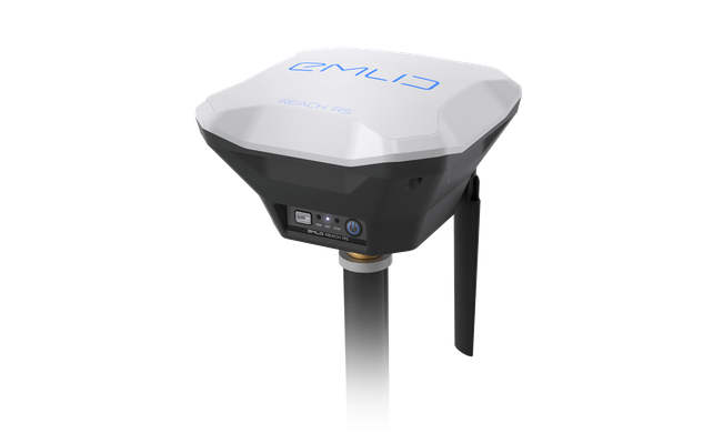 GNSS base station used to achieve sub centimeter accuracy