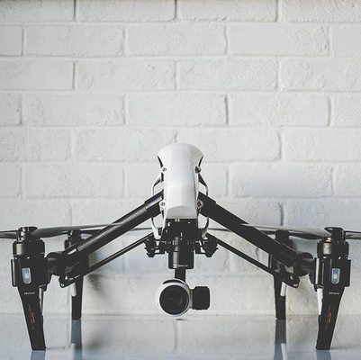 DJI Inspire 1 multi rotor drone used for aerial photography and surveying