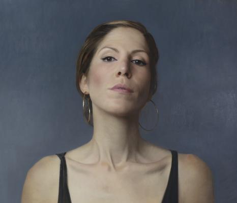 David Kassan - Portrait or artist Shana Levenson - Oil on panel - 38x43