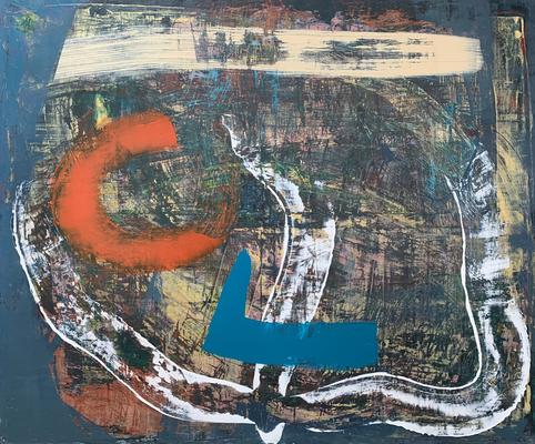 summer vibes (120 x 100 cm - acrylic on canvas - 2019)