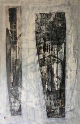 tribe (100 x 150 cm - acrylic on canvas - 2007)