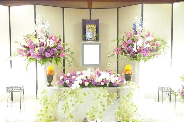 家族葬プラン18 基本生花