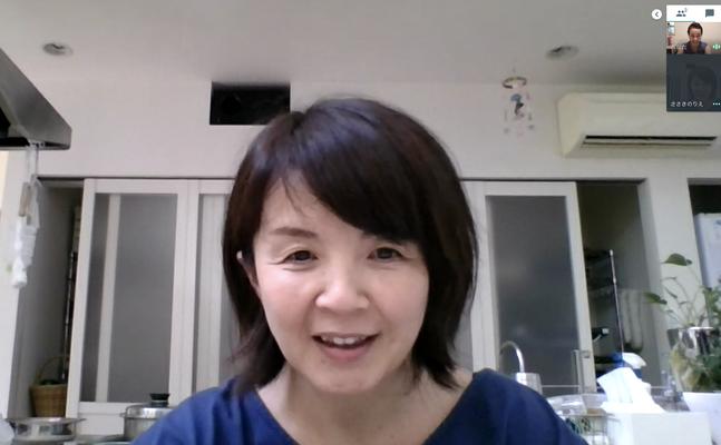 スタッフ佐々木さんとビデオ会議