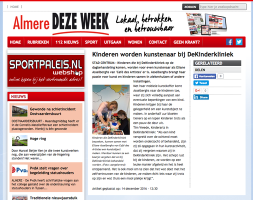 Artikel in Almere Deze Week - 14 december 2016