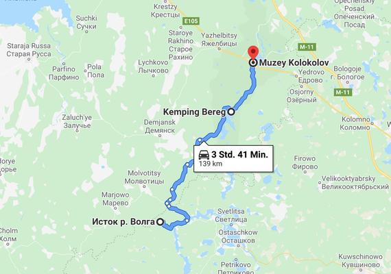 Route von Waldai zur Wolgaquelle