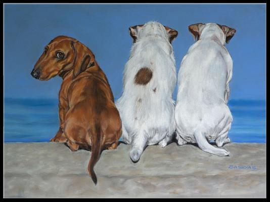 Hundezeichnung, Tierzeichnung, Hunde, Tiermalerei, Hundeportrait, Zeichnung, Pastellzeichnung