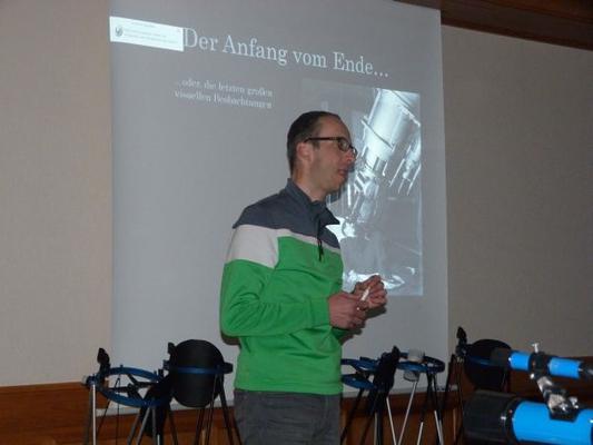 Uwe Glahn bei seinem Vortrag, wie immer hochinteressant und kurzweilig