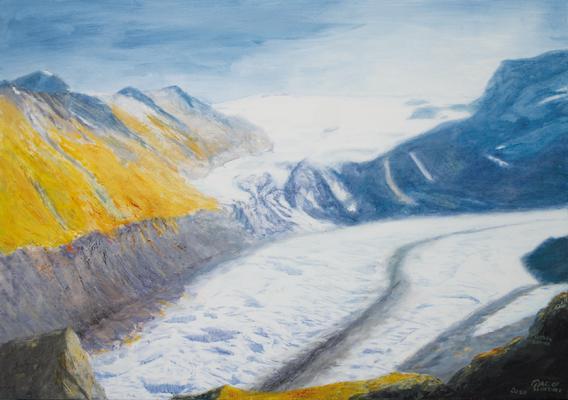 """Gorner Glacier"" | Oel auf Leinwand | 100 x 140 cm"