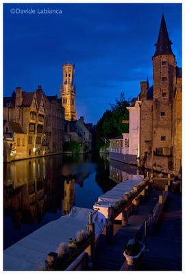 Bruges  -  blue hour