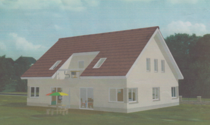 Modell eines Mehrfamilienhaus
