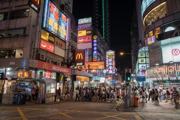 Leuchtschilder in Hongkong