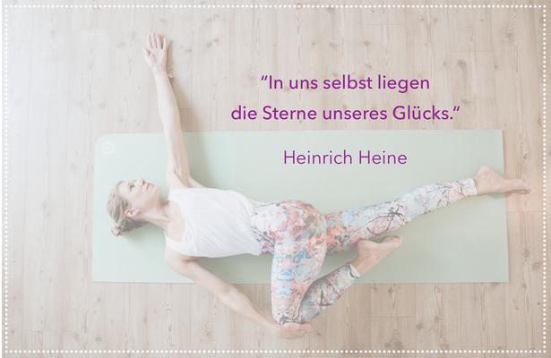 hello-balance: In uns selbst liegen die Sterne unseres Glücks. Heinrich Heine