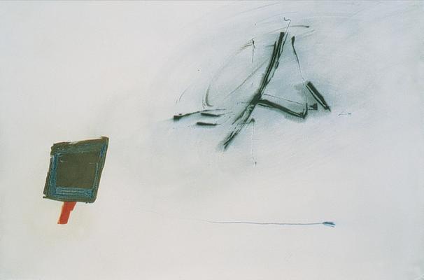 Un souffle, encre sur papier Arches, 120x80 cm, 1995