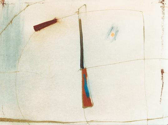 Solaire, encre sur papier Arches, 76x57 cm, 1995
