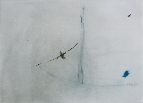 Empreinte, encre sur papier Arches, 76x57 cm, 1995