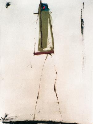 De côté, encre sur papier Arches, 57x76 cm, 1995