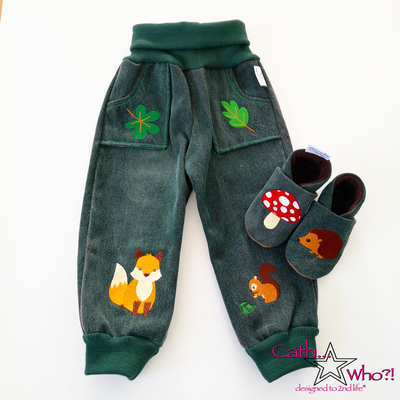 Aus Opas Jeans wurde ein Set für den Enkel