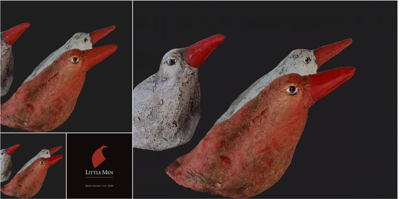 nr 10 Nieuw kleinere vogels Hoogte van de bek ong 13 cm                                                       Euro 22,-