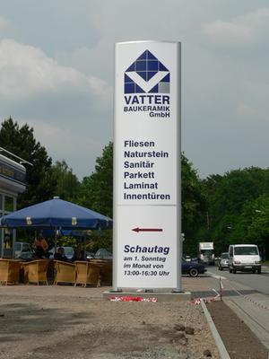 Blickwerbung Crailsheim - Pylonenwerbung, Orientierungspylone, Leitpylone im Kreis Schwäbisch Hall