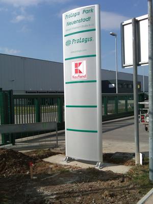 Blickwerbung Crailsheim - Pylonenwerbung,Info Pylone Kaufland im Kreis Schwäbisch Hall