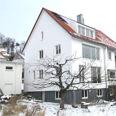 Umbau / Energieeffiziente Sanierung einer Doppelhaushälfte in Stuttgart | Fassade