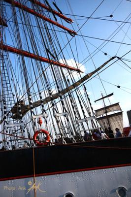"""_sail in summer_ Hafengeburtstag Hamburg, das Segelschiff """"Sedov""""_ Foto: (c)Ank 5/2018"""