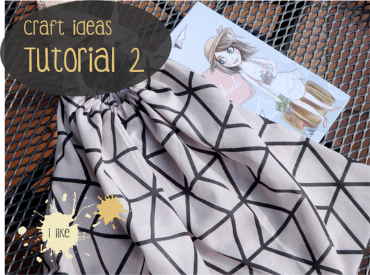 Craft Ideas Tutorial kleine Stofftasche