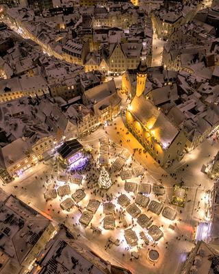 Tallinn Christmas Market - Copyright Sixten Sepp Drone Shot